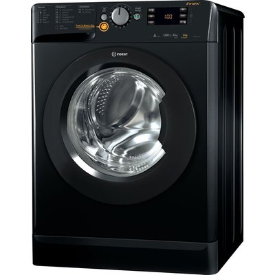 Indesit Washer Dryer XWDE 861480X K 8 kg  - Black, Black