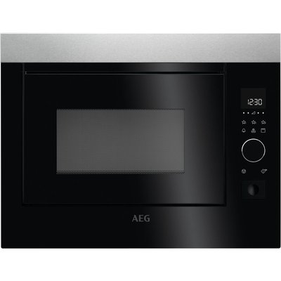AEG MBE2658D M Built in Microwave with Grill   Stainless Steel   Black  Stainless Steel - 7332543569748