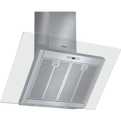 4242002778358: Bosch DWK098E51B Angled 90cm Chimney Cooker Hood Stainless Steel