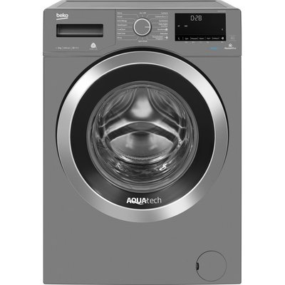 Beko Pro AquaTech WX94044E0G Bluetooth 9 kg 1400 Spin Washing Machine - Graphite, Graphite