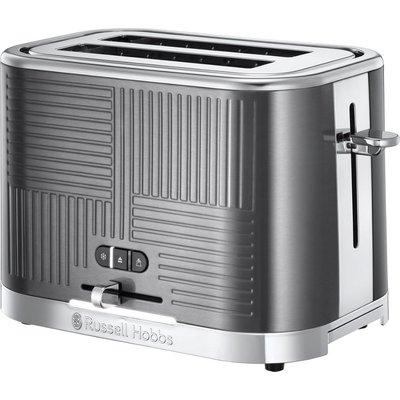 RUSSELL HOBBS Geo Steel 2 Slice Toaster   Silver  Silver - 5038061104332