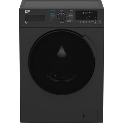 BEKO WDK742421A Bluetooth 7 kg Washer Dryer - Black, Black