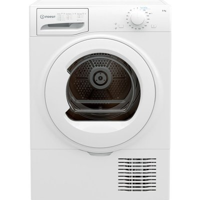 INDESIT I2 D81W UK 8 kg Condenser Tumble Dryer - White, White
