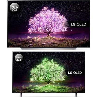 """48"""" LG OLED83C14LA 83"""" Smart 4K Ultra HD HDR OLED TV & OLED48A16LA  TV Bundle"""