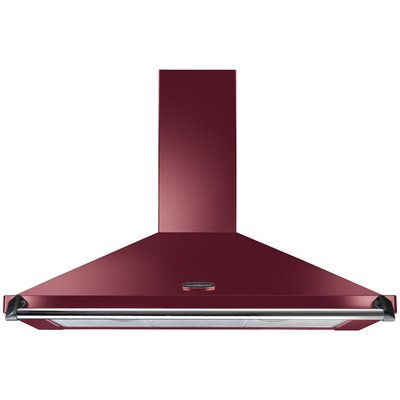 RANGEMASTER  Classic CLAHDC100CY C Chimney Cooker Hood   Cranberry   Chrome  Cranberry - 5028683044611