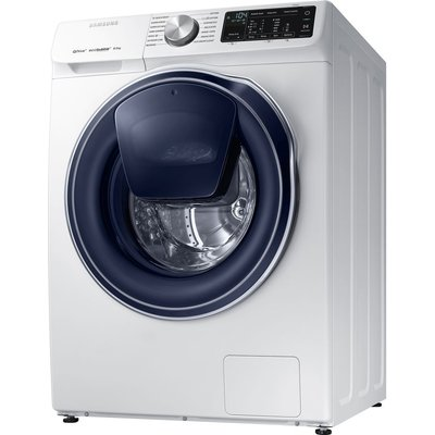 Samsung QuickDrive  AddWash WW80M645OPW Smart 8 kg 1400 Spin Washing Machine - White, White