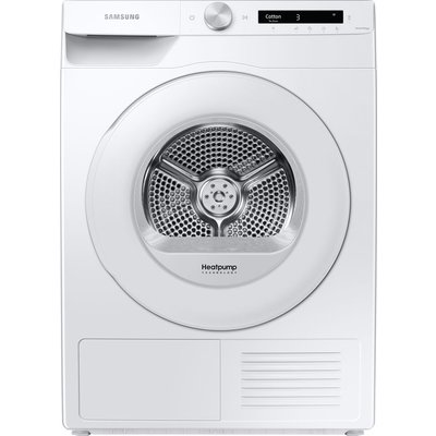 SAMSUNG DV80T5220TW/S1 WiFi-enabled 8 kg Heat Pump Tumble Dryer - White, White