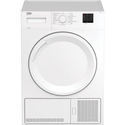 BEKO DTKCE90021W 9 kg Condenser Tumble Dryer - White, White