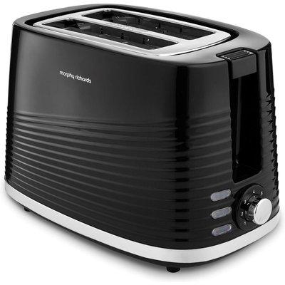 MORPHY RICHARDS Dune 220026 2 Slice Toaster   Black  Black - 5011832066770