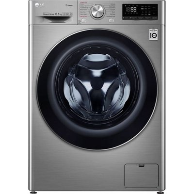 LG Vivace F4V710STS WiFi-enabled 10.5 kg 1400 Spin Washing Machine - Graphite, Graphite