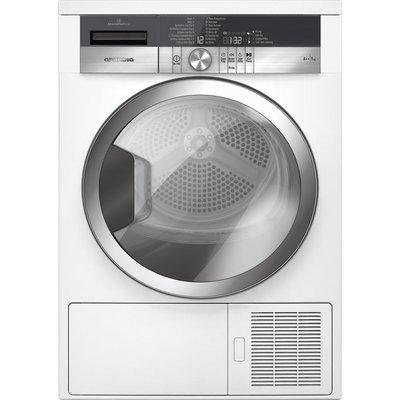 GRUNDIG GTN39250GCW Heat Pump Tumble Dryer - White, White