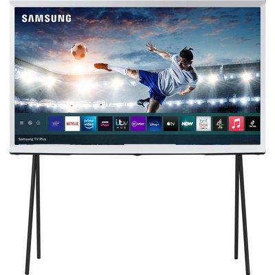 "49"" SAMSUNG The Serif QE49LS01TAUXXU  Smart 4K Ultra HD HDR QLED TV with Bixby, Alexa & Google Assistant - Cloud White, White"