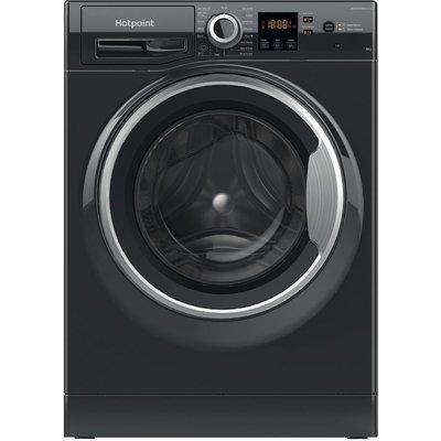 HOTPOINT Coreu0026tradeNSWR 843C BS UK N 8 kg 1400 Spin Washing Machine – Black, Black