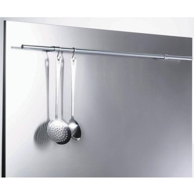 Belling SBK110R 110cm Stainless Steel Splashback with Rail 5034700495311