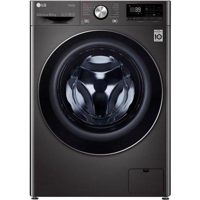 LG TurboWash 360 with AI DD V9 F4V910BTSE WiFi-enabled 10.5 kg 1400 Spin Washing Machine - Black, Black