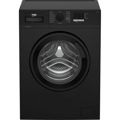 BEKO WTL74051B 7 kg 1400 Spin Washing Machine - Black, Black