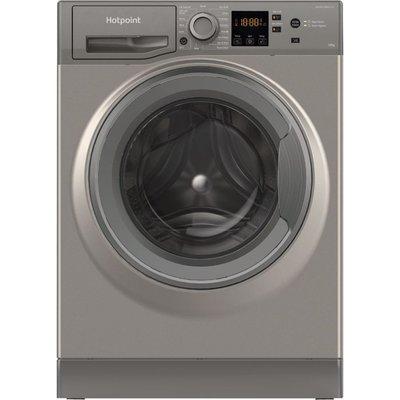 HOTPOINT NSWM 1043C GG UK N 10 kg 1400 Spin Washing Machine - Graphite, Graphite