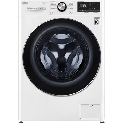 LG TurboWash 360 with AI DD V9 F4V909WTS WiFi-enabled 9 kg 1400 Spin Washing Machine - White, White