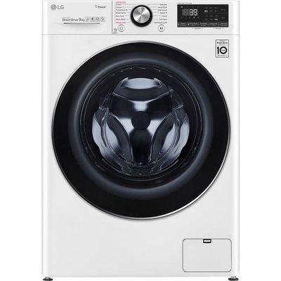 LG TurboWash 360 with AI DD V9 F4V909WTS WiFi-enabled 9 kg 1400 Spin Washing Machine - White, White