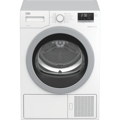 BEKO Pro DHX83420W 8 kg Heat Pump Tumble Dryer - White, White