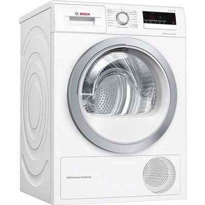 BOSCH Serie 4 WTW85231GB 8 kg Heat Pump Tumble Dryer - White, White