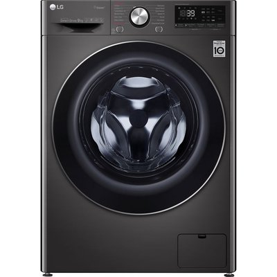 LG Vivace F4V909BTS WiFi-enabled 9 kg 1400 Spin Washing Machine - Black Stainless Steel, Stainless Steel