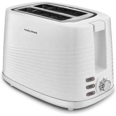 MORPHY RICHARDS Dune 220029 2 Slice Toaster   White  White - 5011832066800