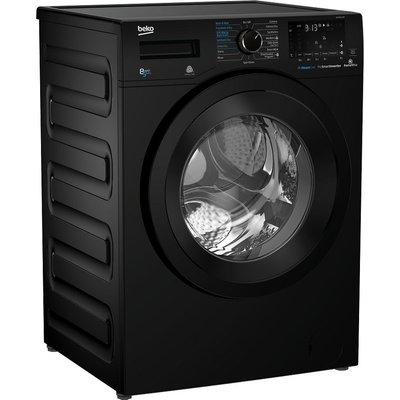 Pro WDX850130B Bluetooth 8 kg Washer Dryer - Black, Black