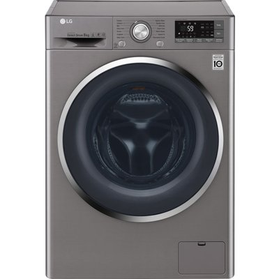 LG FH4U2TDN2S Smart 8 kg 1400 Spin Washing Machine - Graphite, Graphite