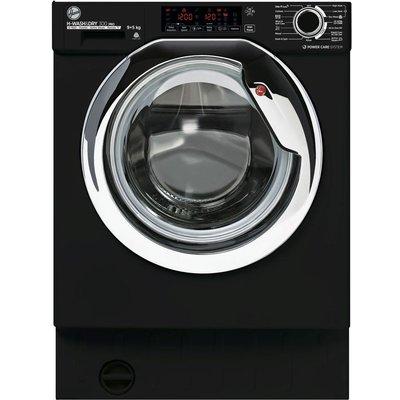 HOOVER H-WASH & DRY 300 Pro HBDOS695TAMCBT WiFi-enabled Integrated 9 kg Washer Dryer - Black, Black