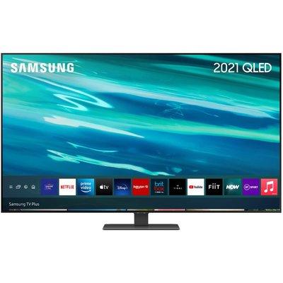 "55"" SAMSUNG QE55Q80AATXXU  Smart 4K Ultra HD HDR QLED TV with Bixby, Alexa & Google Assistant"