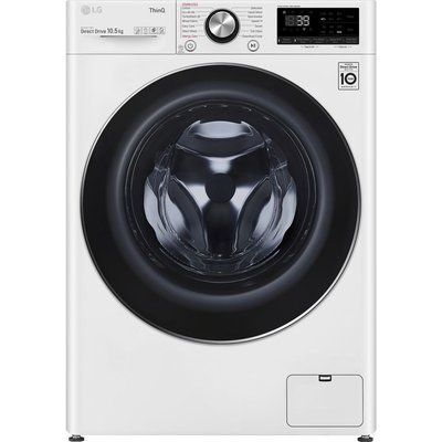 LG TurboWash 360 with AI DD V10 F6V1010WTSE WiFi-enabled 10.5 kg 1600 Spin Washing Machine - White, White