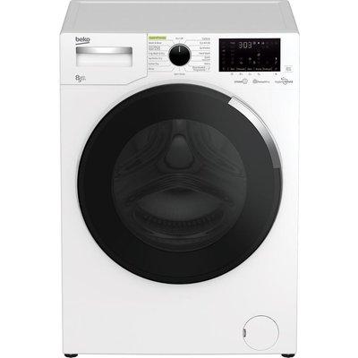 BEKO HygieneShield WDEY854044HW Bluetooth 8 kg Washer Dryer - White, White
