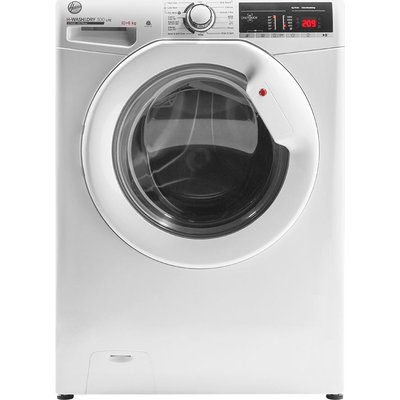 HOOVER H-Wash 300 H3D 4106TE NFC 10 kg Washer Dryer - White, White