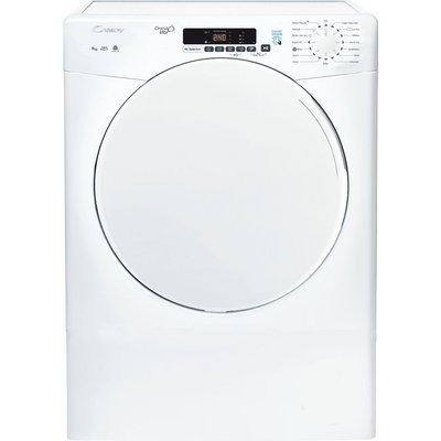 CSV 9DF WiFi-enabled 9 kg Vented Tumble Dryer - White, White