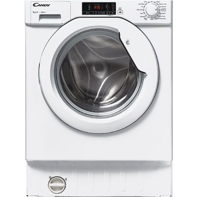 CANDY CBWM816D-80 Integrated 1600 Spin Washing Machine - White, White