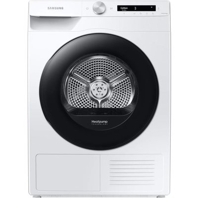 SAMSUNG DV90T5240AW/S1 WiFi-enabled 9 kg Heat Pump Tumble Dryer - White, White