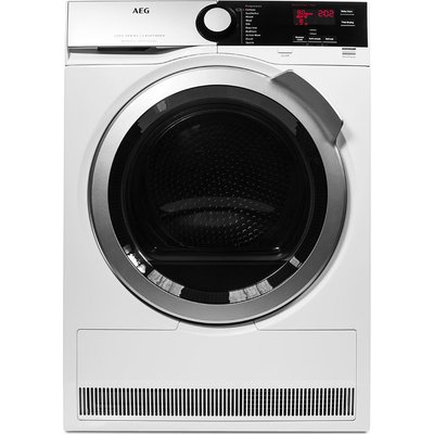 AEG Tumble Dryer  SensiDry T7DEE835R Heat Pump Condenser  - White, White