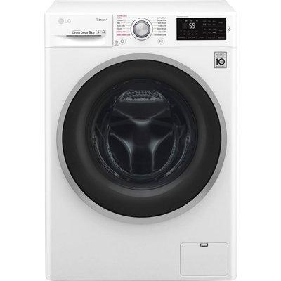 LG F4J609WS NFC 9 kg 1400 Spin Washing Machine - White, White