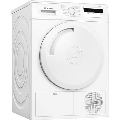 BOSCH Serie 4 WTH84000GB 8 kg Heat Pump Tumble Dryer - White, White