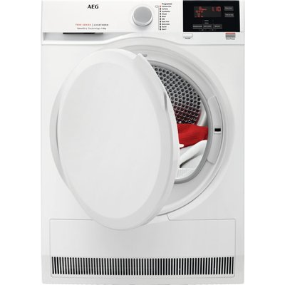 AEG 7000 Series T7DBG840N 8 kg Heat Pump Tumble Dryer - White, White