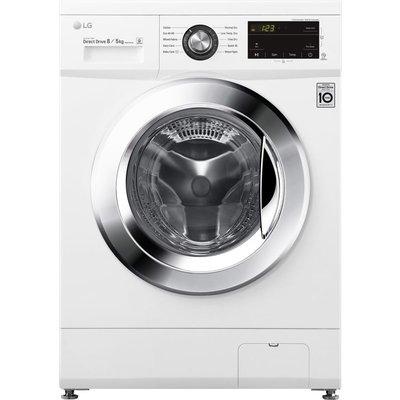 LG Direct Drive FWMT85WE 8 kg Washer Dryer - White, White