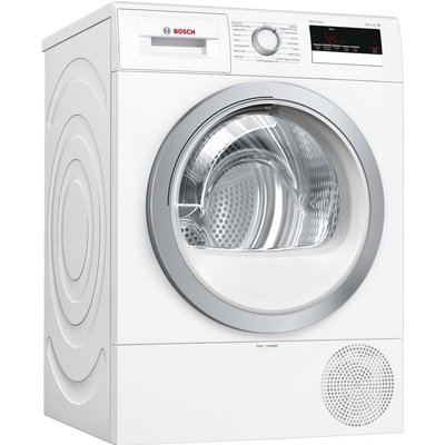 BOSCH Serie 4 WTR85V21GB 8 kg Heat Pump Tumble Dryer - White, White
