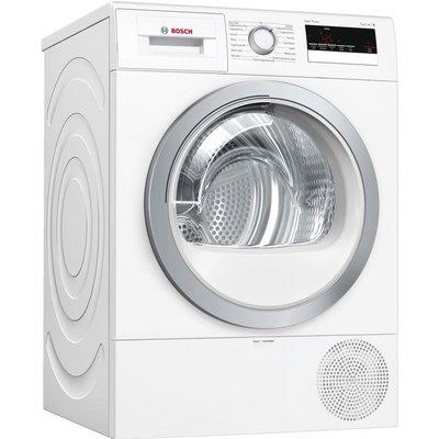 BOSCH Serie 4 WTR85V21GB 8 kg Heat Pump Tumble Dryer – White, White