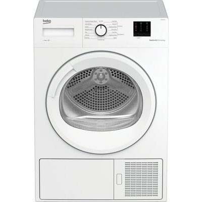BEKO Pro DTBP8011W 8 kg Heat Pump Tumble Dryer - White, White