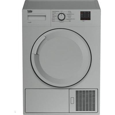 Beko Tumble Dryer DTBC7001S 7 kg Condenser  - Silver, Silver