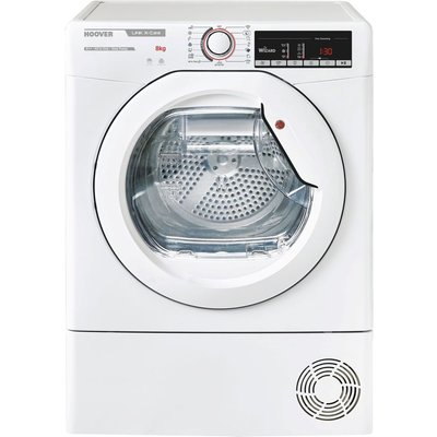 HOOVER Link X Care HLX H8A2TE NFC 8 kg Heat Pump Tumble Dryer - White, White