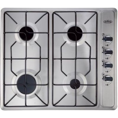 5034700494659 | Belling Mk2 GHU60GE 4 Burner Gas Hob   Stainless Steel