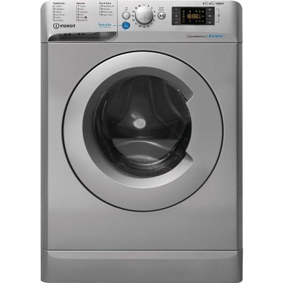 INDESIT Innex BDE 861483X S UK N 8 kg Washer Dryer - Silver, Silver