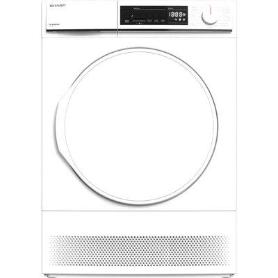 SHARP KD-NCB8S7PW9 8 kg Condenser Tumble Dryer - White, White